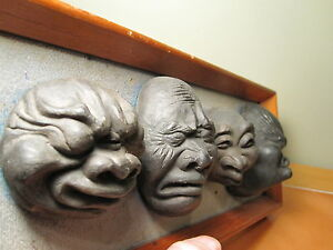 ANTIQUE VINTAGE CHINESE ? SCULPTURES GROTESQUES EMOTIONS ASIAN ART SIGNED CHANG $349.99
