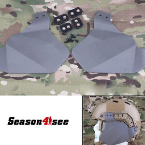Tactical Ears Protector Side Soft Covers for Emerson Fast Helmet Rail System FG