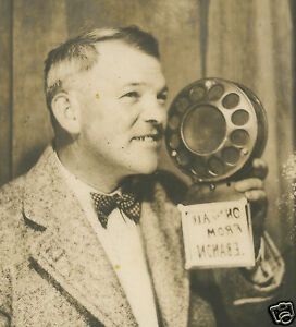 ANTIQUE quot; ON THE AIR FROM LEBANON quot; MIC RADIO BROADCAST FUN PHOTOBOOTH PHOTO $48.99