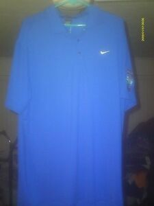 BLUE TIGER WOODS COLLECTION DRY FIT  NIKE POLO SHIRT SIZE XL