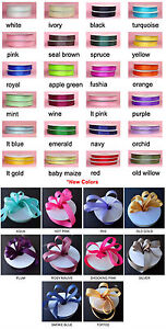 Solid Color Grosgrain Ribbon 50yards Roll Premium Quality 6 sizes 34 colors $4.99