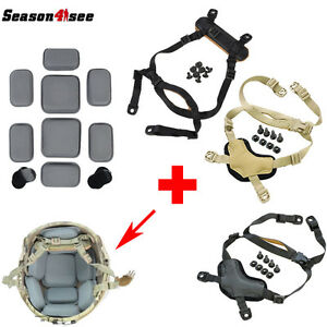 Military MICH Helmet Protective Spacer Pads & Retention System Chin Strap Gear