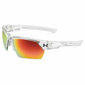 Under Armour Igniter 2.0 Sunglasses Clear Frame wFrosted RubberGray wOrange