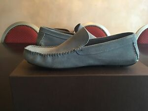 LANVIN MOCCASINS BLUE SUEDE LOAFERS SIZE 10 US 44 EU (WORN 3 TIMES)