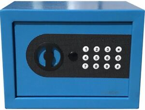 NEW DIGITAL ELECTRONIC SAFE SECURITY BOX WALL JEWELRY GUN CASH BLUE $37.99