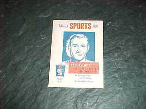 1958 Pete Elliott Union Oil Football Booklet Michigan Wolverines Cal Bears $14.00