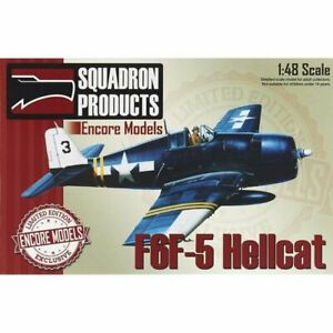 Encore Models 48007 F6F-5 Hellcat 1/48 Model Airplane Kit Squadron Products
