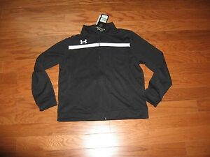 Under Armour® Logo Full Zip-Up Sweatshirt Boys Black Size SML NWT