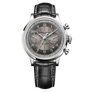 NEW LIMITED EDITION BAUME AND MERCIER CAPELAND FLYBACK CHRONO 10086 GREY  DIAL