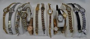 14 USED VINTAGE LADIES WATCHES FOR PARTS REPAIRS OR REPLACEMENT