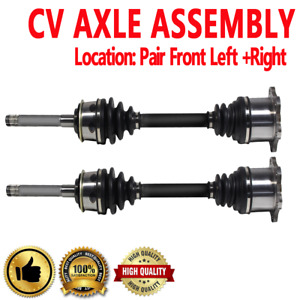 PAIR FRONT LEFT & RIGHT CV DRIVE AXLE SHAFT ASSEMBLY For TOYOTA T100 1993-1998