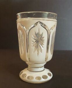 BOHEMIAN CZECH CASED OVERLAY 2 -LAYER GLASS BEAKER  TUMBLER HARRACH c. 1880s