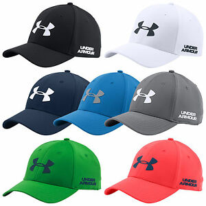 UNDER ARMOUR MENS GOLF HEADLINE STRETCH FIT CAP -NEW UA BASEBALL HAT SPORTS 2016