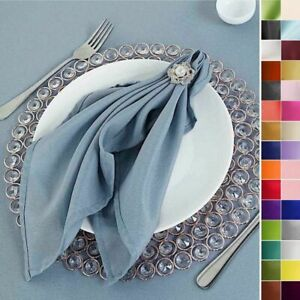 20 Polyester Fabric NAPKINS Wedding Party Dinner Kitchen Table Decorations