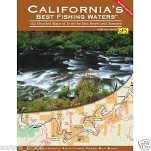 California#x27;s Best Fishing Waters Brand New 183 Full Color Detailed Maps WW75919