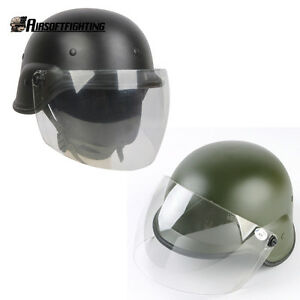 2Color Airsoft Tactical Paintball M88 PASGT Kelver Swat Helmet + Clear Visor