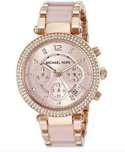Brand New Michael Kors Parker Rose Gold Blush MK5896 Watch for Women