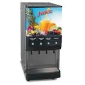 Bunn O Matic JDF-4 S Silver Series 4 Flavor Gourmet Ice Cold Beverage System - L