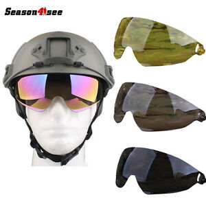 1PC Tactical Ballistic Goggle Glasses for FAST Helmet Glass