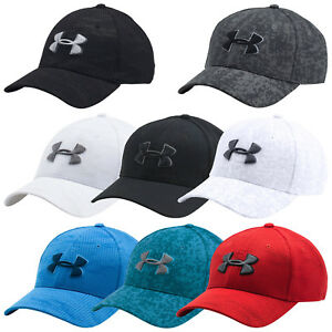 UNDER ARMOUR MENS PRINT BLITZING CAP NEW UA SPORTS BASEBALL HAT STRETCH FIT