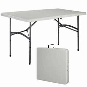 5' Folding Table Portable Plastic Outdoor  IndoorPicnic Party Dining Camp Tables