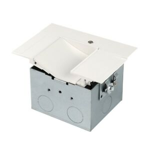 WAC InvisiLED Power Feed for Asymmetrical Recessed Channel LED T RBOX2 WT