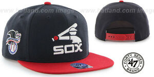 White Sox 'COOP SURE-SHOT SNAPBACK' Navy-Red Hats by 47 Brand