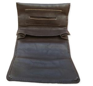Brown tobacco pouch case wallet purse rolling cigarette preserving freshness