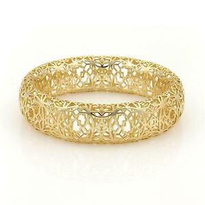 Tiffany & Co. Paloma Picasso Marrakesh Open Design Wide Bangle in 18k YGold