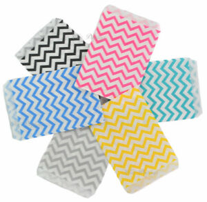 Gift Bags Jewelry Gift Bags Store Bags Merchandise Bags Chevron Printed 100 pc