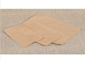 100Pc Kraft Paper Flat Paper Bags Wholesale Bags Kraft Jewelry Gift Bag Lots 100