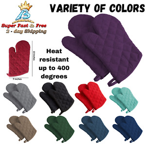 Heat Resistant Gloves For Cooking Terry Oven Mitts Baking Gloves Kitchen 7