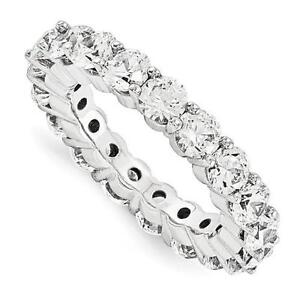 14k White Gold Round Cut Eternity Design Band Ring 4.50ct GVS1 Made to Order