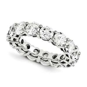 14k White Gold Round Cut Eternity Design Band Ring 3.80ct GVS1 Made to Order