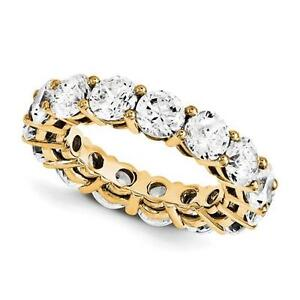14k Yellow Gold Round Cut Eternity Design Band Ring 3.80ct GVS1 Made to Order