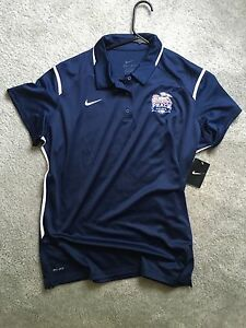 Women's Team Nike Dry fit Chick-fil-a Bowl Shirt polo Size 2XL blue