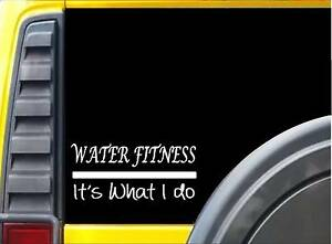 Water Fitness Sticker K530 8 inch exercise decal