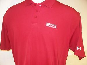 Brown University Bears NCAA Stitched Under Armour Dry Fit Polo Golf Shirt