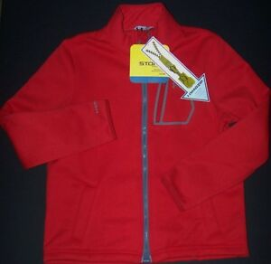 NWT Boy sz YXL XL UNDER ARMOUR Jacket SWEAT Shirt Cold Gear Storm  Fast Shp! Red