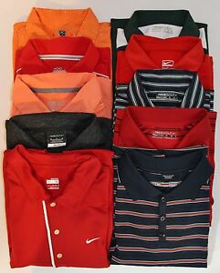 Lot of 10 Mens M Shirts Nike Under Armour Oakley Short Sleeve Golf Polo Dri Fit