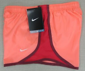 NIKE DRI-FIT Youth Girl's Performance Athletic Running Shorts Orange Small NEW