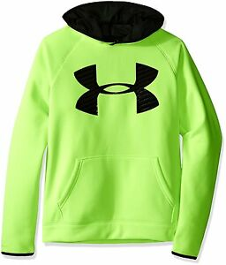 Under Armour Boys' Storm Armour Fleece Highlight Big Logo Hoodie Fuel Youth