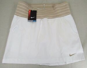 NIKE Golf Women's Dri-Fit Performance Skirt Shorts Set White Cream Size 6 NEW