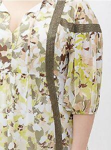 Lane Bryant Printed Peasant Dress Leaf Camo Plus Size 1416 1X NEW With Tags