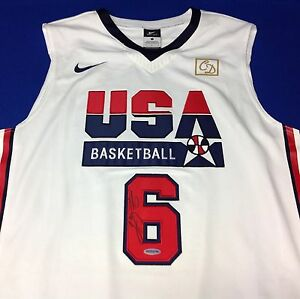 LeBron James Autographed Nike Dri-Fit USA Olympic Jersey UDA Authentic JSA