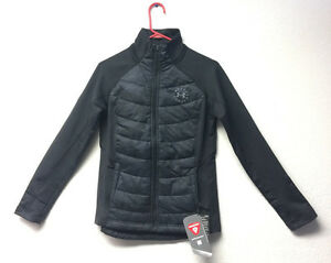 NEW Women's Under Armour  Tactical 1301229 Black Camo Quilted Jacket Small S