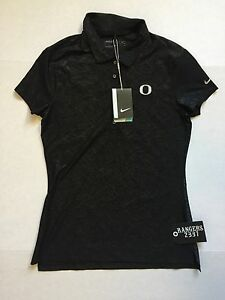 Nike Women's Dri-Fit Golf Polo Shirt 725627-010 Black Size S