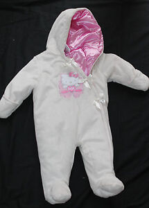 Baby Girl Hello Kitty Hooded Pram Ivory Pink Size 3 6 months nwot #172 $18.99