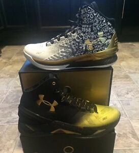 NEW Under Armour Curry MVP Champ Pack Back To Back Sz 10 DS Gold 1 2 LIMITED UA