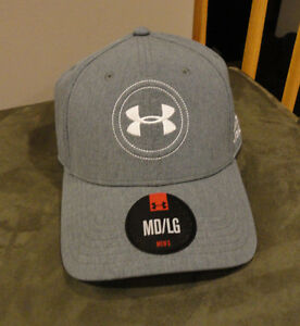 NWT Under Armour Men's UA Official Tour Golf Hats.GrayWht. MDLG.
